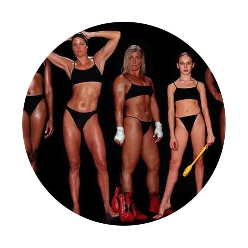 Vrouwelijke atleten en hun unieke lichaamsvormen