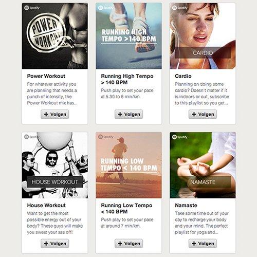 Spotify: Kies een kant-en-klare afspeellijst die bij je sport en intensiteit past
