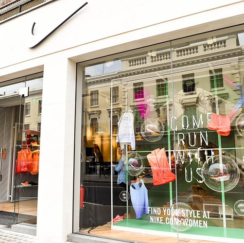 Nike King's Road. De eerste Europe's women's-only store van Nike in hartje Londen